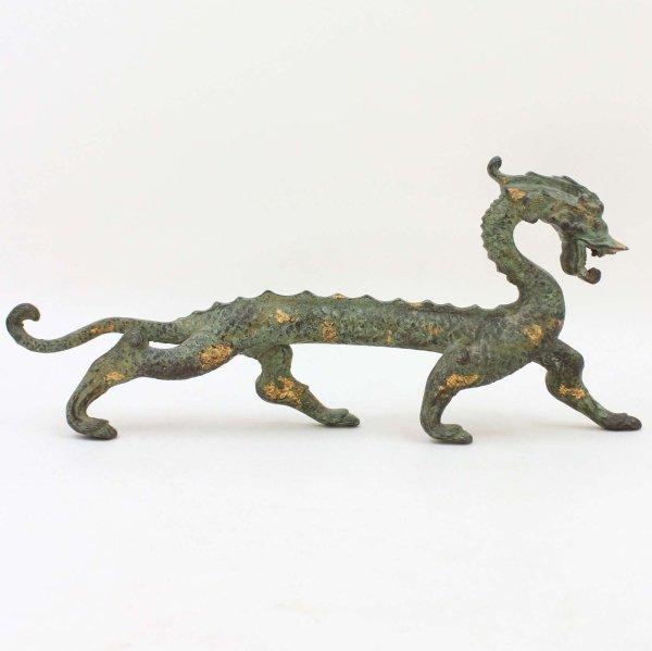China Drachen Figur (32,5cm) Bronze Skulptur