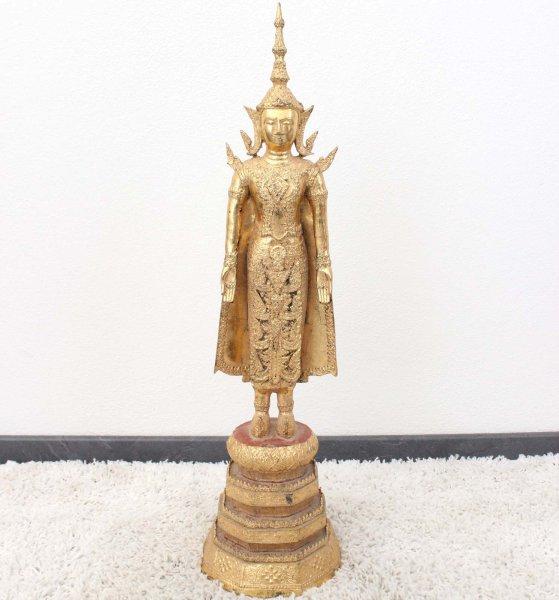 Blattgold Buddha Statue (83cm) Thailändische Figur