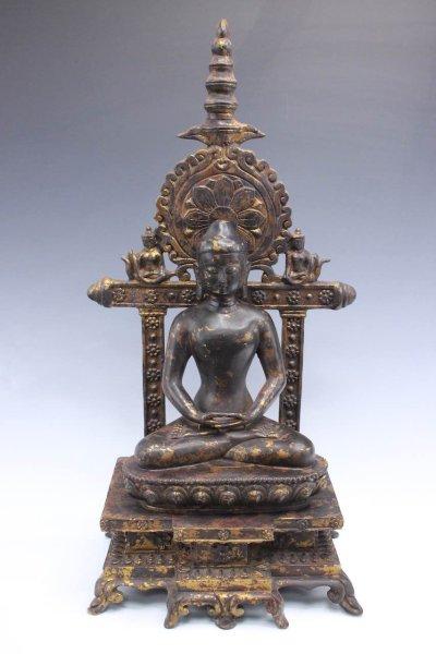 Amitabha Bronze Buddha Figur auf Thron