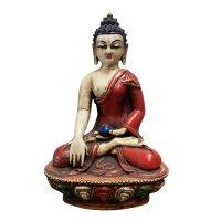 Terrakotta Figur Shakyamuni Buddha (21cm) Siddharta Gautama Tibet Statue