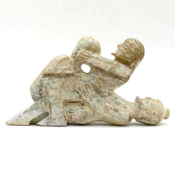 China Hongshan Jade Figur (12,5cm) Kamasutra Aktfigur