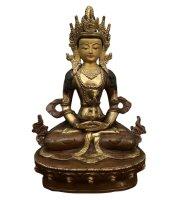 Amitayus Buddha Figur Bronze - vergoldet