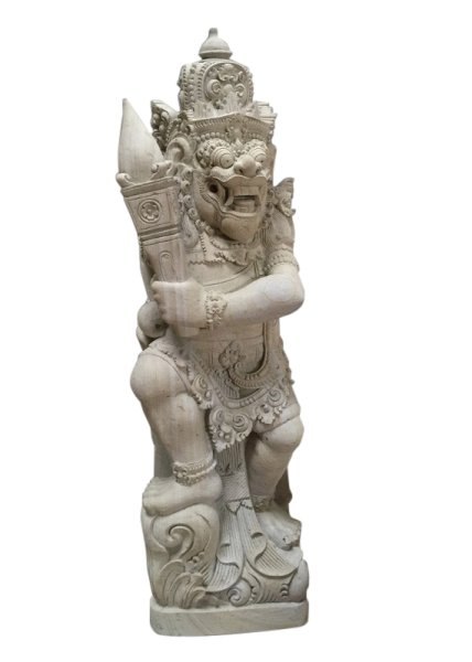 Tempelwächter aus Tuffstein Antiquität aus Bali