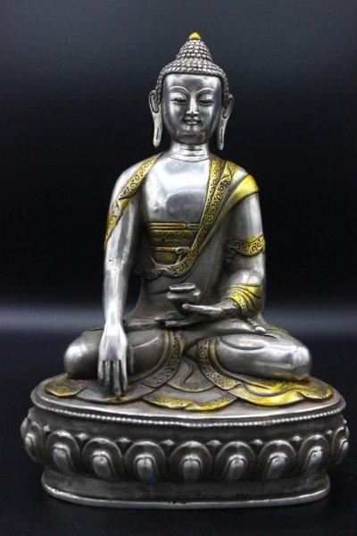 Siddharta Gautama Buddha Bronze Figur