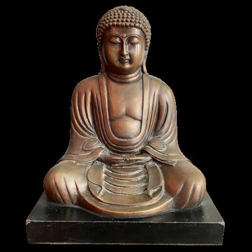 Daibutsu Kamakura Bronze Figur (25cm) Amitabha Buddha Japan