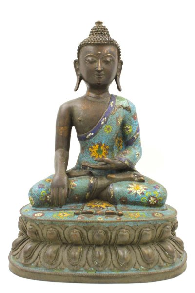 Cloisonne Siddharta Gautama Buddha Figur - 46cm