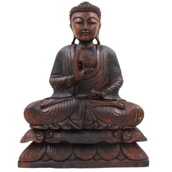 Holz Buddha Figur Lehrende Geste (49cm) Vitarka Mudra