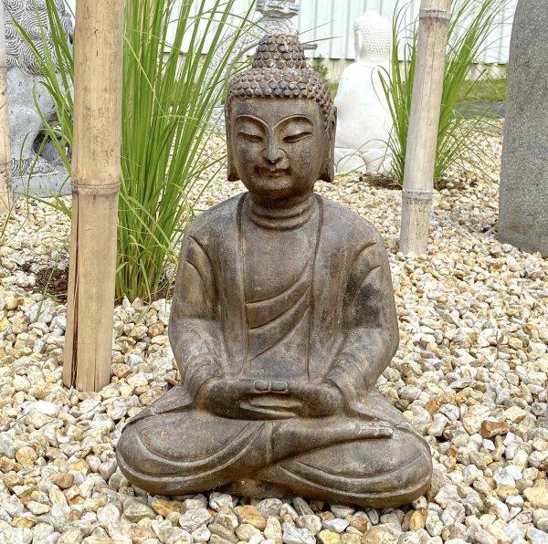 Sitzender Naturstein Buddha (49cm) Amitabha Statue
