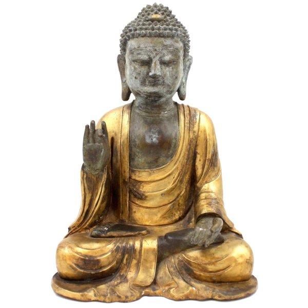 Karana Mudra Buddha (34cm) Bronze Amoghasiddhi Figur