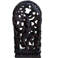 Shiva Teak Holz Relief (62cm) Hindu Gottheit Wandskulptur