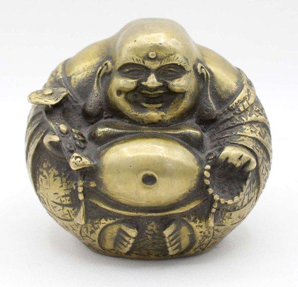 Happy Buddha Figur Bronze (10cm) Hotai Budda China