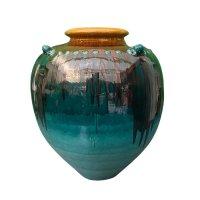 Große Bodenvase - glassierter Ton - Burma