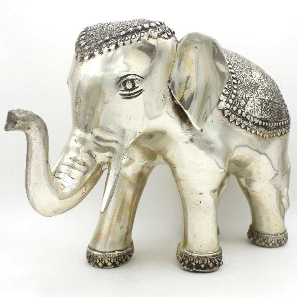 Glücksbringender Elefant Messing (37cm) China Krafttier Figur