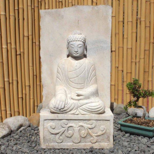 Garten Siddharta Buddha Statue (61cm) Marmor Stein