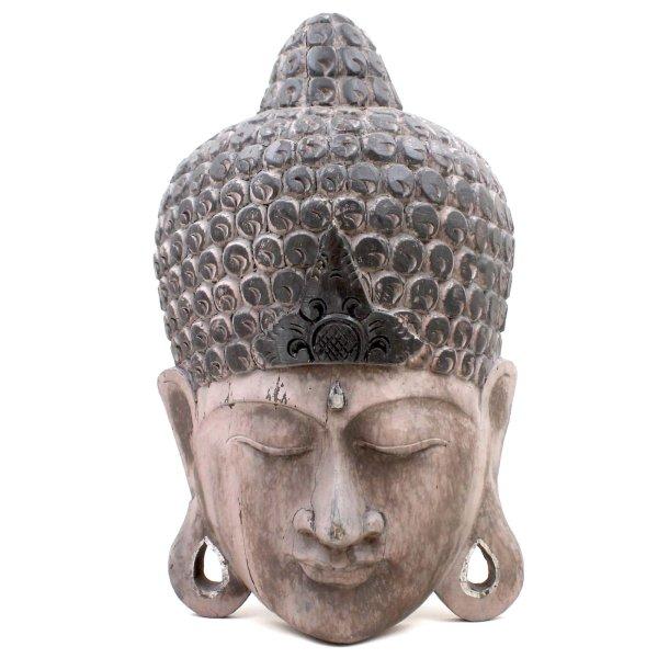 Thailand Holz Maske (49cm) Buddha Figur