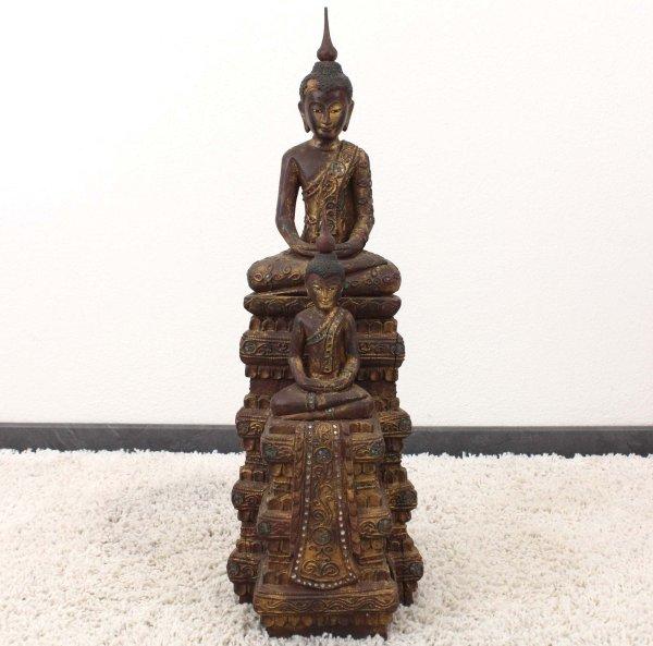 Amitabha Buddha Figur Burma (81cm) Holz