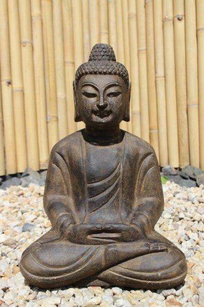 50cm Garten Buddha Statue - Meditation - Steinskulptur