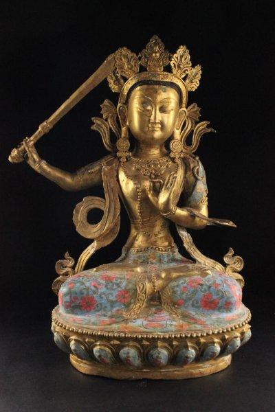 Manjushri Buddha Figur aus Bronze