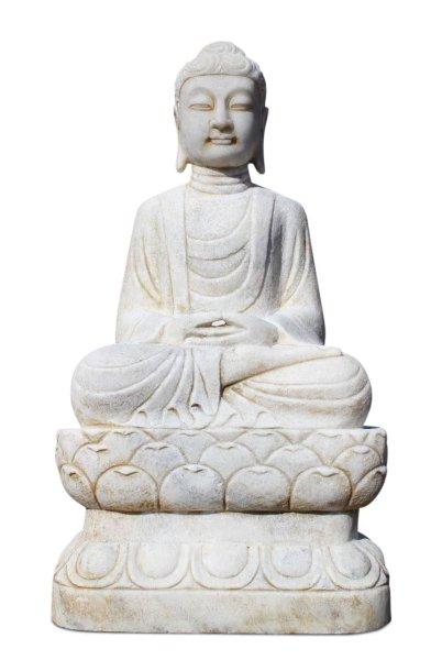 85 cm Marmor Buddha für Garten