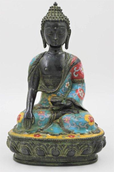 Cloisonné Siddharta Gautama (29cm) Buddha Bronze Figur