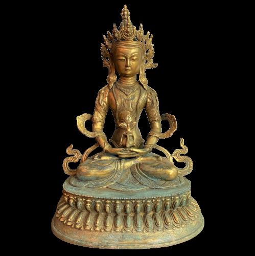 Amitayus Buddha Figur Bronze (46cm) Bodhisattva Ambrosia Vase