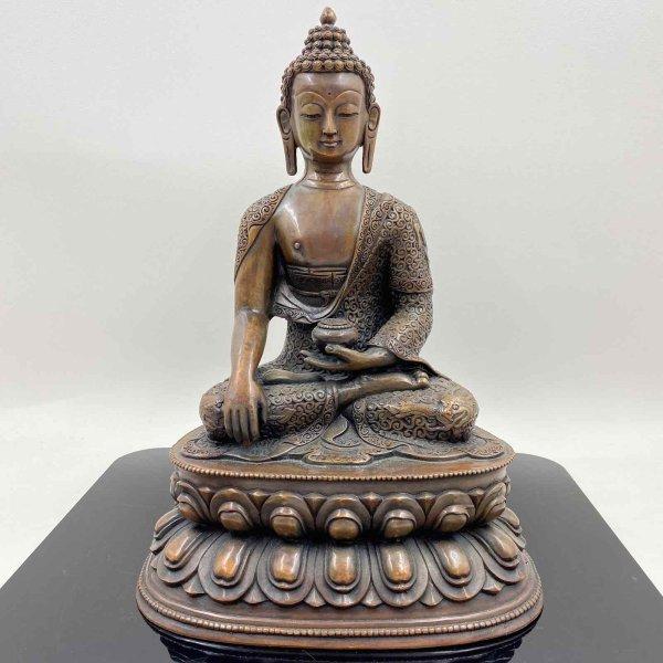 Siddharta Gautama Buddha (36cm) Shakyamuni Kupfer Bronze