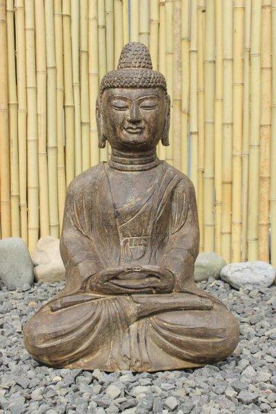 Asiatische Gartenstatue aus Naturstein - Amitabha