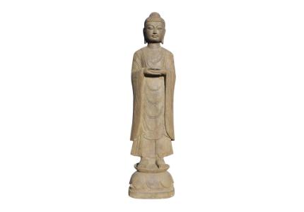 Naturstein Buddha: 120 cm groß