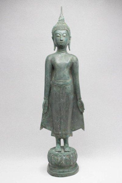 Sukhothai Buddha Figur Bronze, Thailand