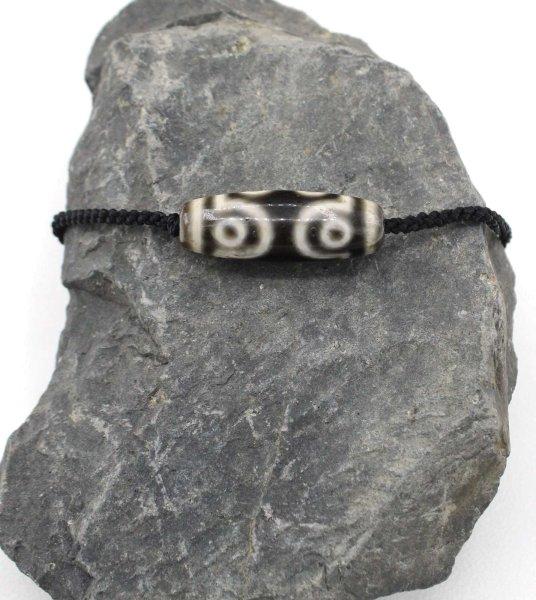 7 Augen Dzi Stein Achat Perle - Tibet Halskette