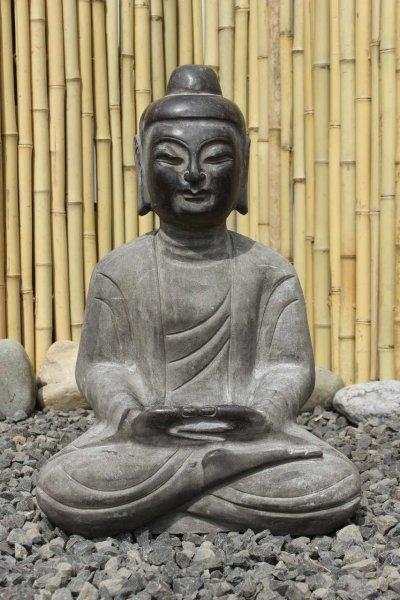 Amitabha Statue aus Naturstein - Gartenbuddha