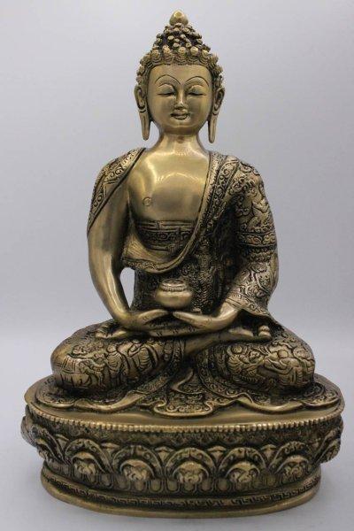 Amitabha Buddha Figur aus Bronze - China/Tibet