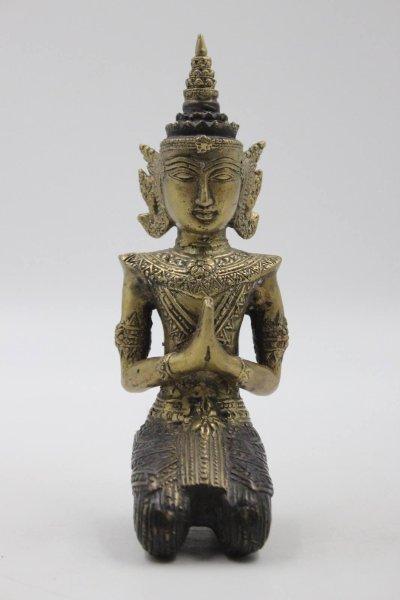 19 cm Tempelwächter - Teppanom Figur aus Bronze, Thailand