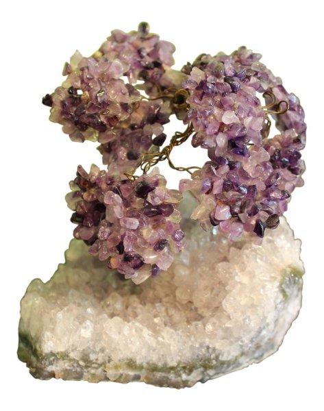 Japanischer Ahorn Baum Amethyst und Bergkristall