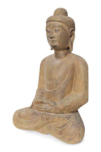 Sitzende Buddha Figur aus Naturstein