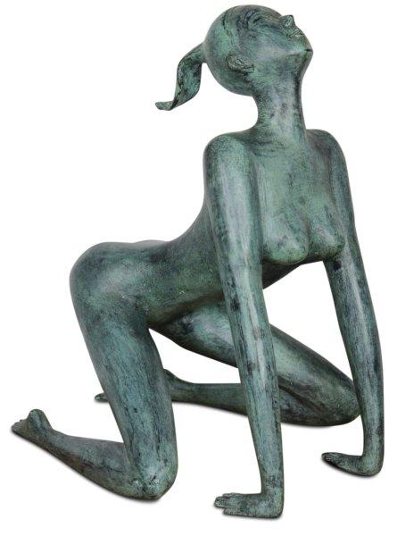 Asiatische Aktfigur aus Bronze