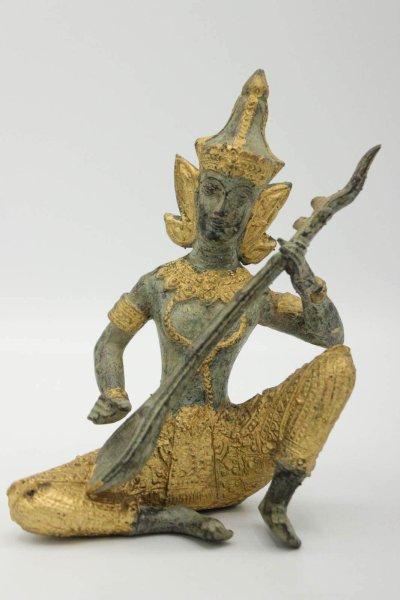 Tempelwächter Teppanom Figur aus Bronze - Thailand