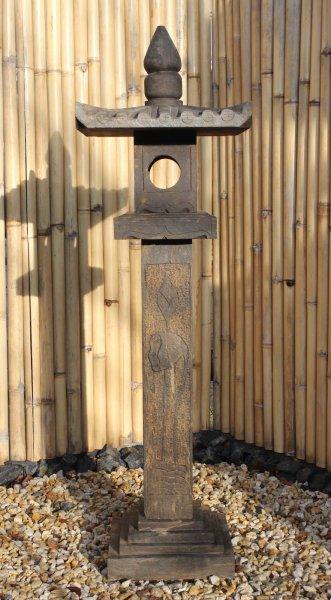 152cm große, asiatische Steinlaterne - Geisterhaus für Garten