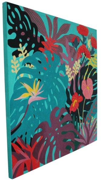 Acryl Gemälde The Flowers of Asia 100 x 100 cm
