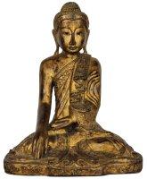edle mandalay buddha figur aus holz