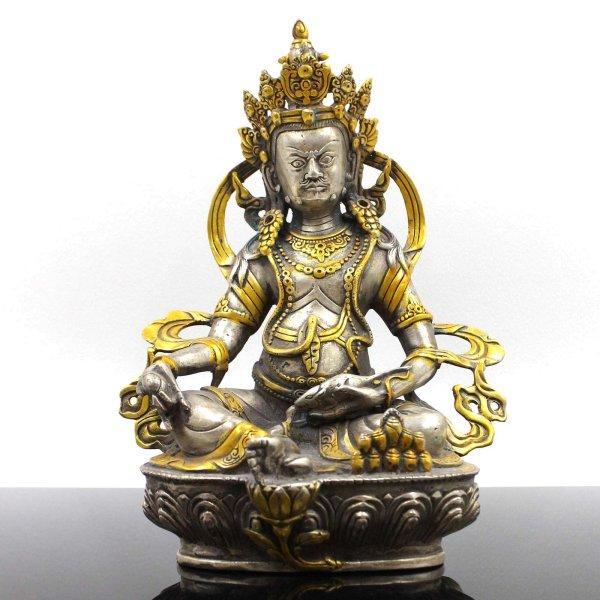 Kubera Jambhala Bronze Figur (22cm) Reichtumsgott