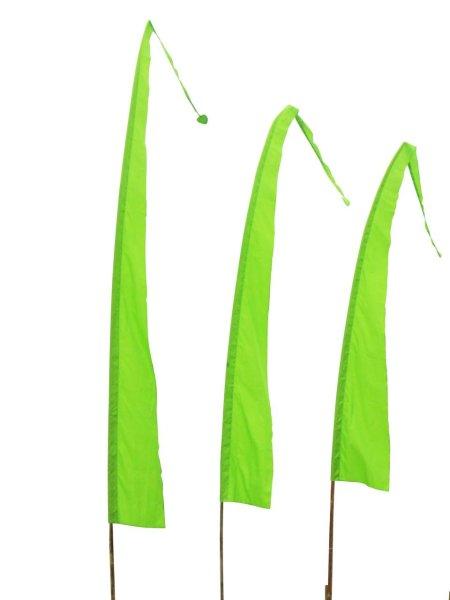 Balifahne in Hellgrün mit herzförmiger Spitze, Umbulfahne