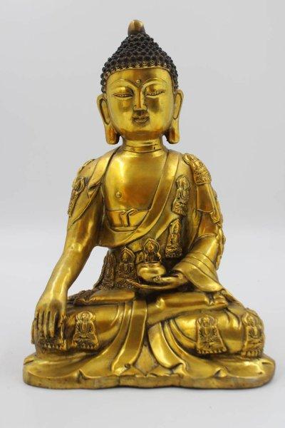 Buddha Siddharta Gautama Figur aus Bronze