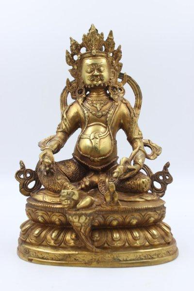 Kubera Jambhala Buddha Figur aus Bronze