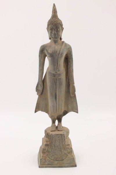 Sukhothai Buddha Figur Bronze, Thailand - 36cm