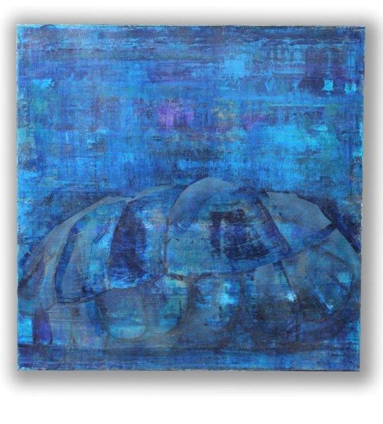 Acryl Gemälde Schildkröte - Fengshui