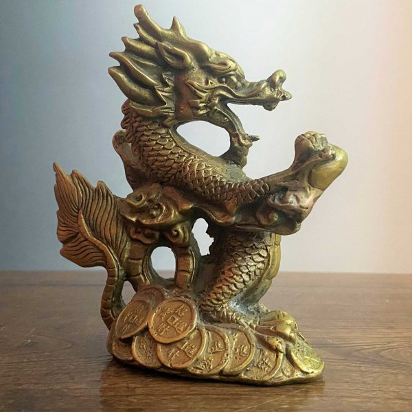 Asiatischer Drache - Figur aus Bronze