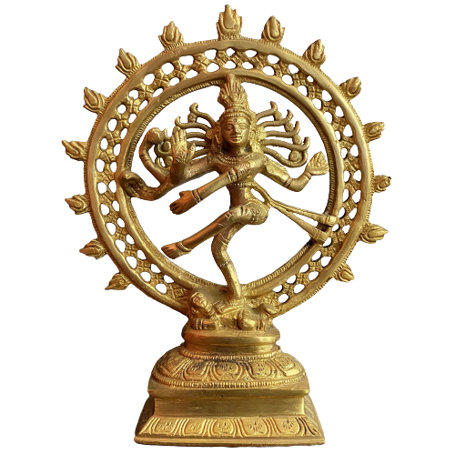 Hindu Gottheit Shiva Figur (23cm) Bronze Skulptur