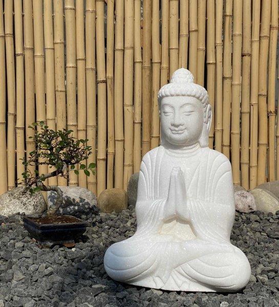 Garten Buddha Figur aus Marmor - Namaste