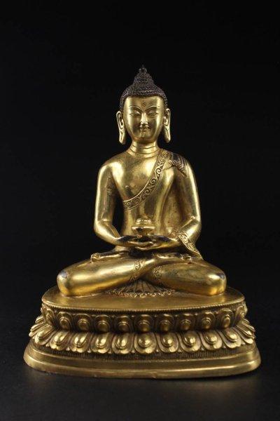 Amitabha Buddha Figur - aus Bronze